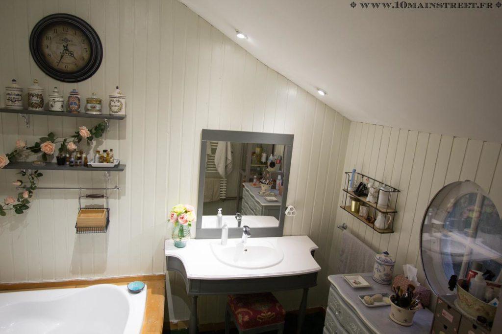 Meuble vasque et tabouret
