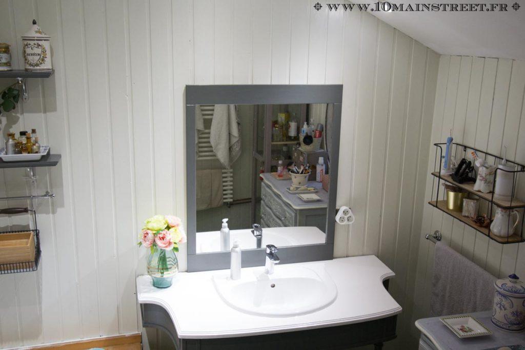 Meuble vasque avec son miroir