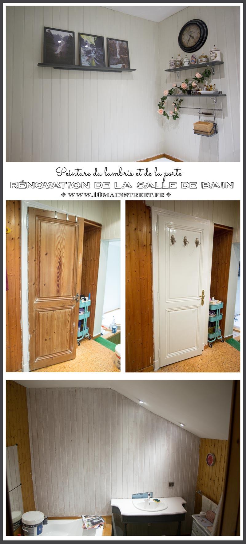 Quelle Couleur Choisir Pour Peindre Des Portes rénovation salle de bain : peinture du lambris et de la porte