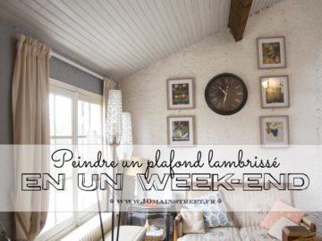 Peinture un plafond en lambris en un week-end