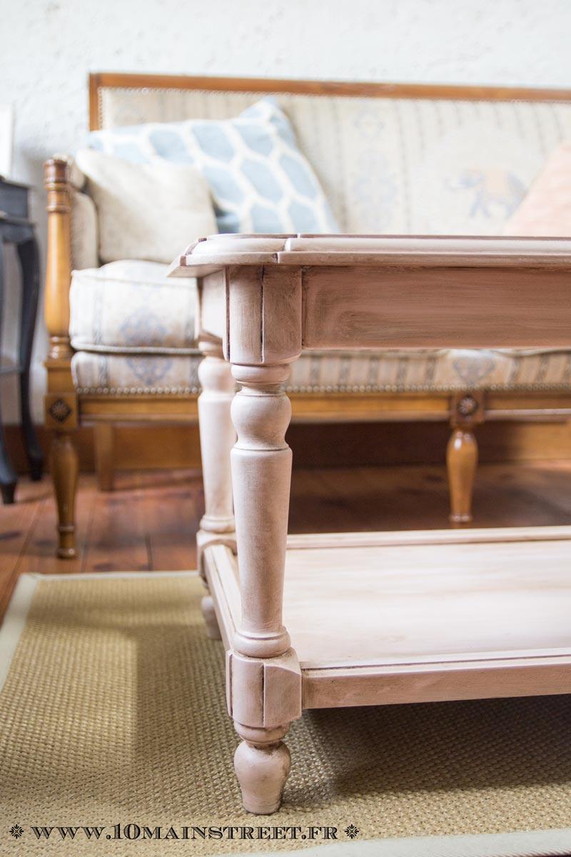 Comment Patiner Une Table patine rosée pour une vieille table basse en merisier