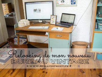 Mon nouveau bureau vintage des années 1950