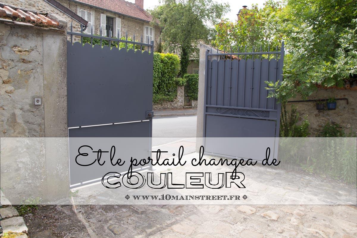 Faire Son Portail En Fer et le portail changea de couleur. comment peindre un