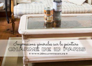 Impressions générales sur la peinture Charme de ID Paris