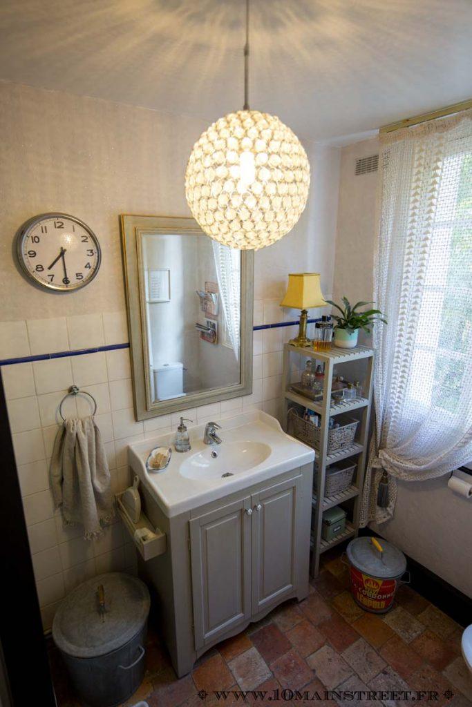 Salle de bain pailletée