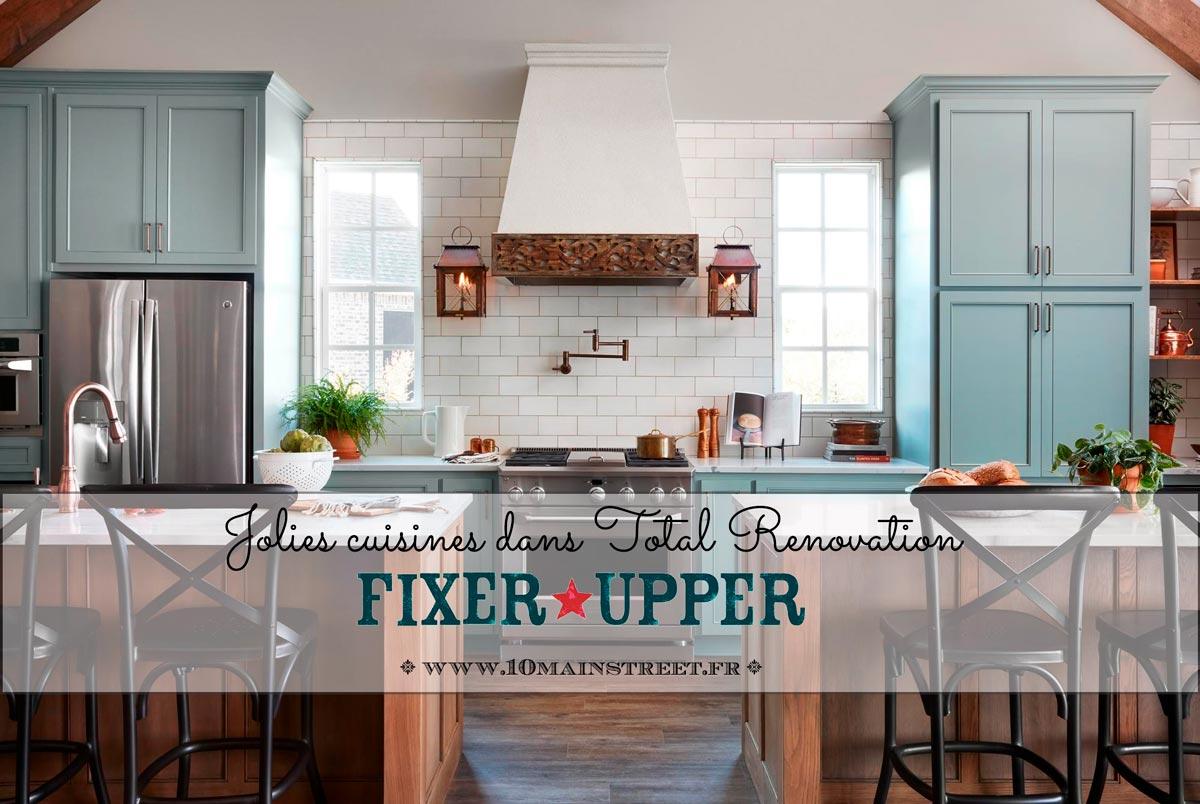 Jolies cuisines dans Fixer Upper - Total Renovation