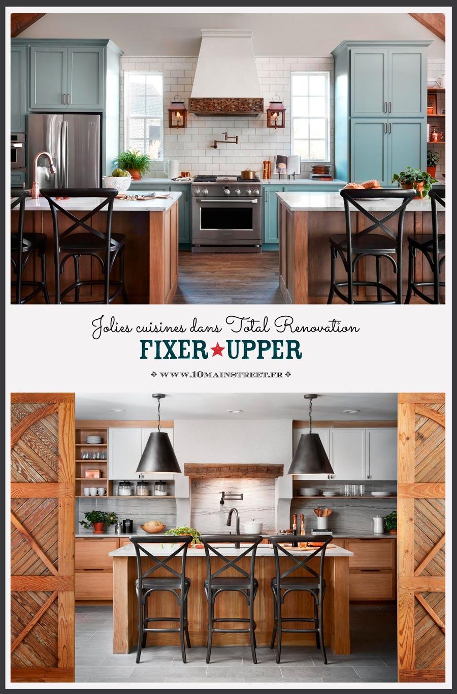 Cuisine Américaine Style Année 50 jolies cuisines dans fixer upper (total renovation) - 10