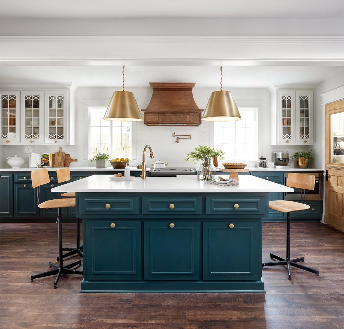 Cuisine Blanche Et Bleu jolies cuisines dans fixer upper (total renovation) - 10