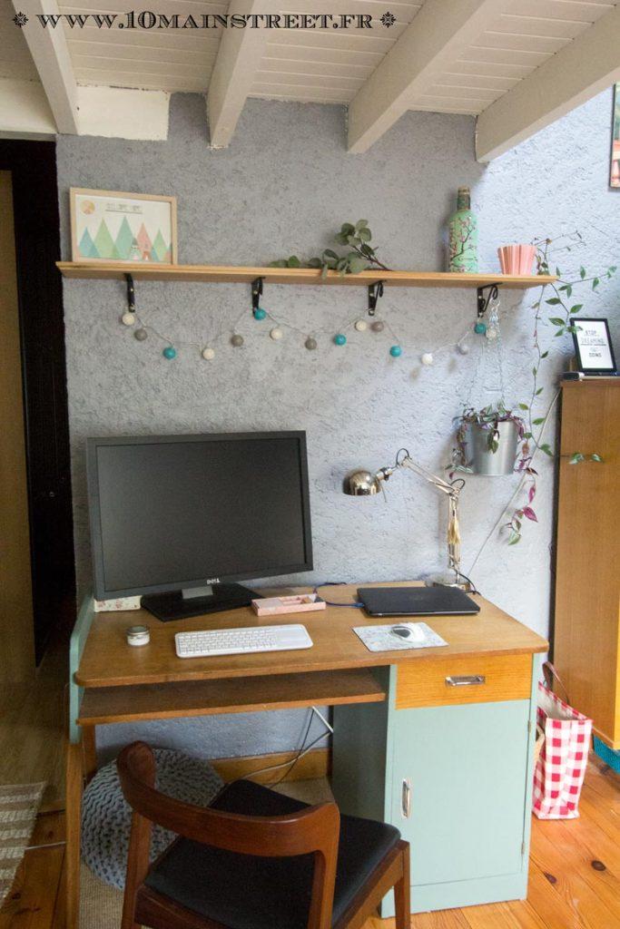 Nouvelle déco au-dessus de bureau