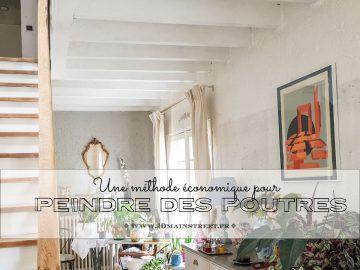 Peindre des poutres : une méthode économique