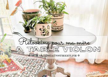 Le relooking de la table violon de ma mère