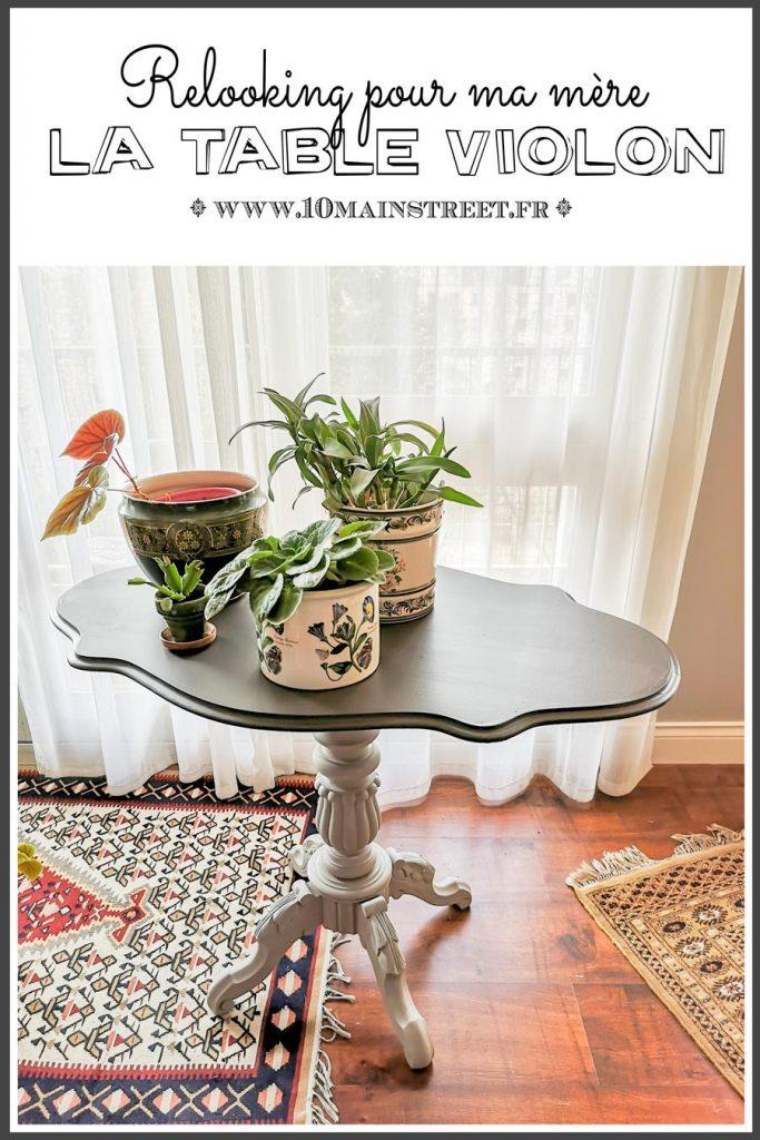 Le relooking de la table violon de ma mère | guéridon, desserte, side-table | #relookingmeuble #vintage #upcycling #IDParis