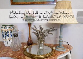 La lampe Louis XVI relookée à la Chalk paint Annie Sloan