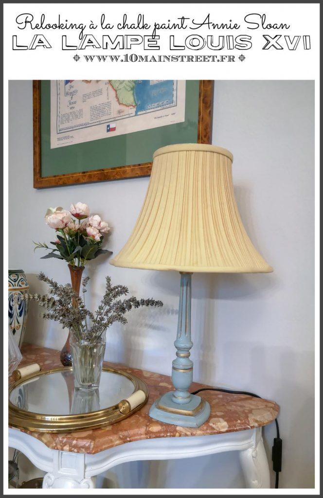 La lampe Louis XVI relookée à la Chalk paint Annie Sloan duck egg blue | #DIY #french #frenchdecor #chalkpaint #anniesloan #duckeggblue #upcycling