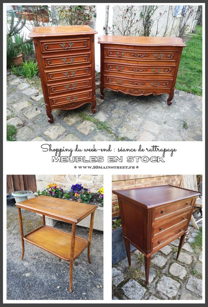 Meubles en stock : séance de rattrapage du shopping du week-end | #retourdechine #merisier #vintage #commode #french