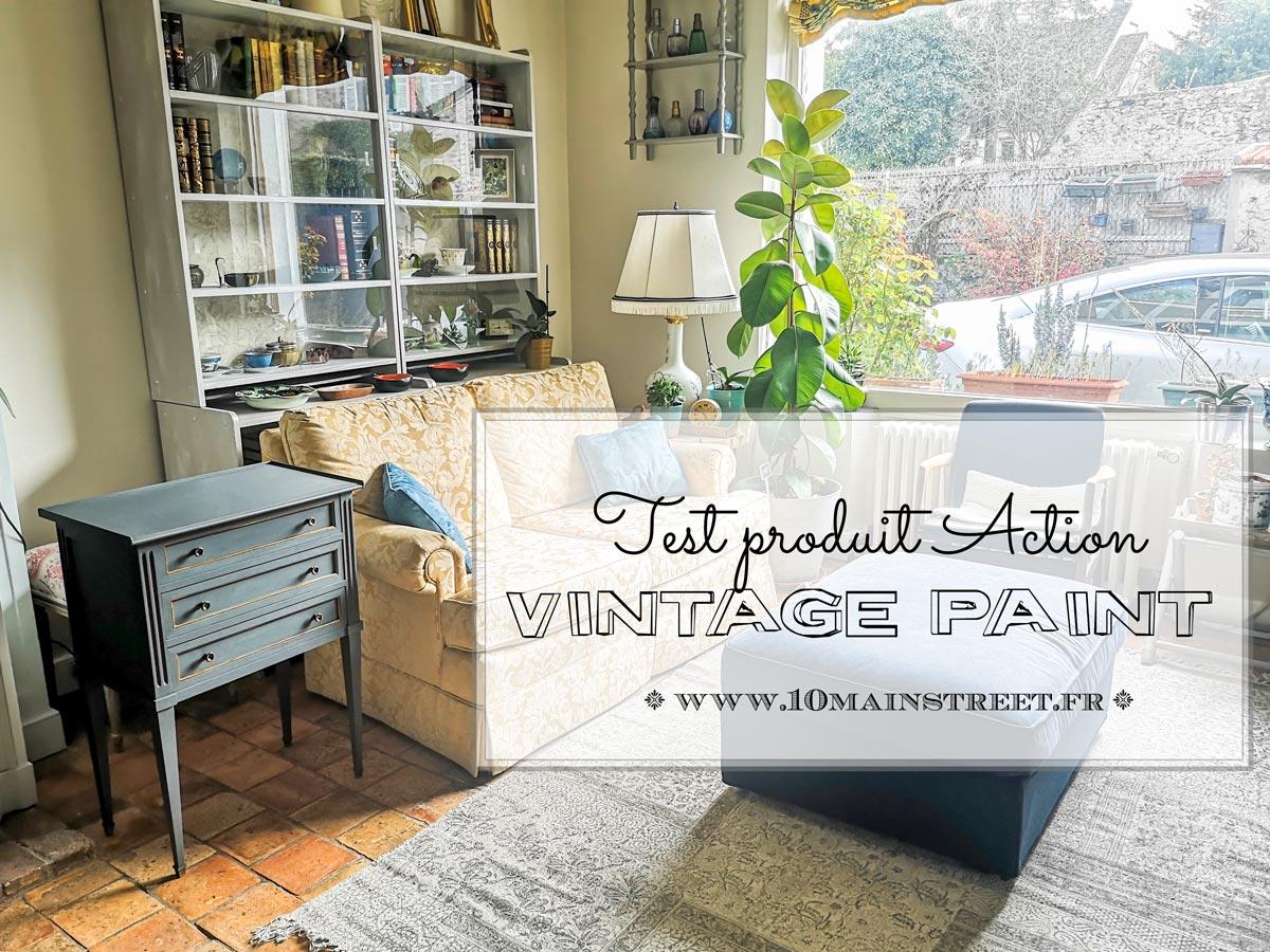 La vintage paint d'Action : test d'un produit sympa