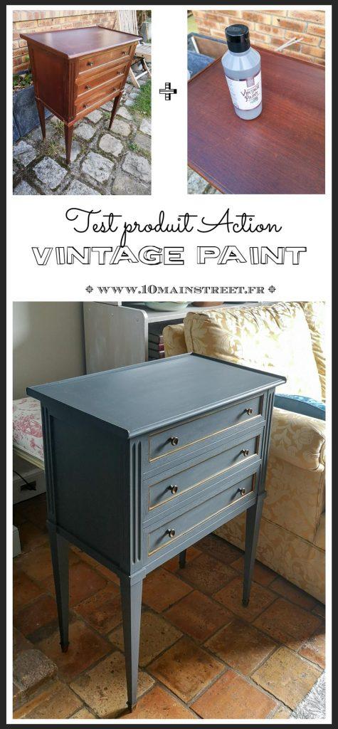 La vintage paint d'Action : test d'un produit sympa ! #Action #chalkpaint #relookingmeuble #vintage