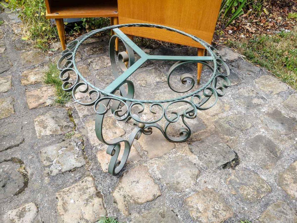 table basse ronde en fer forgé