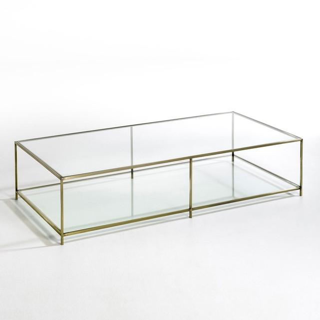 Table basse La Redoute en verre et métal