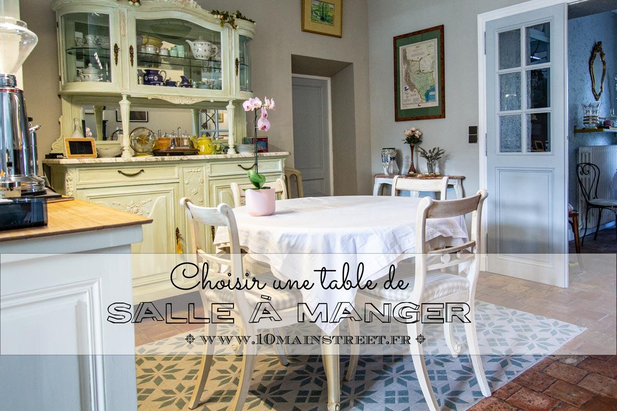 Choisir une table de salle à manger - 6 Main Street