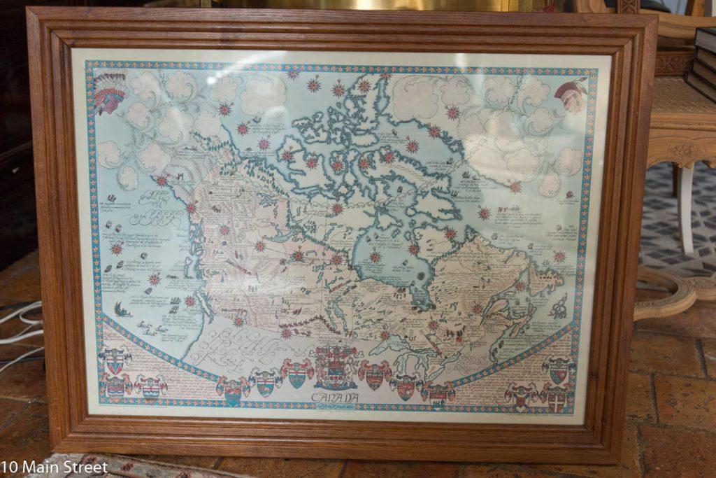 La carte du Canada, avant