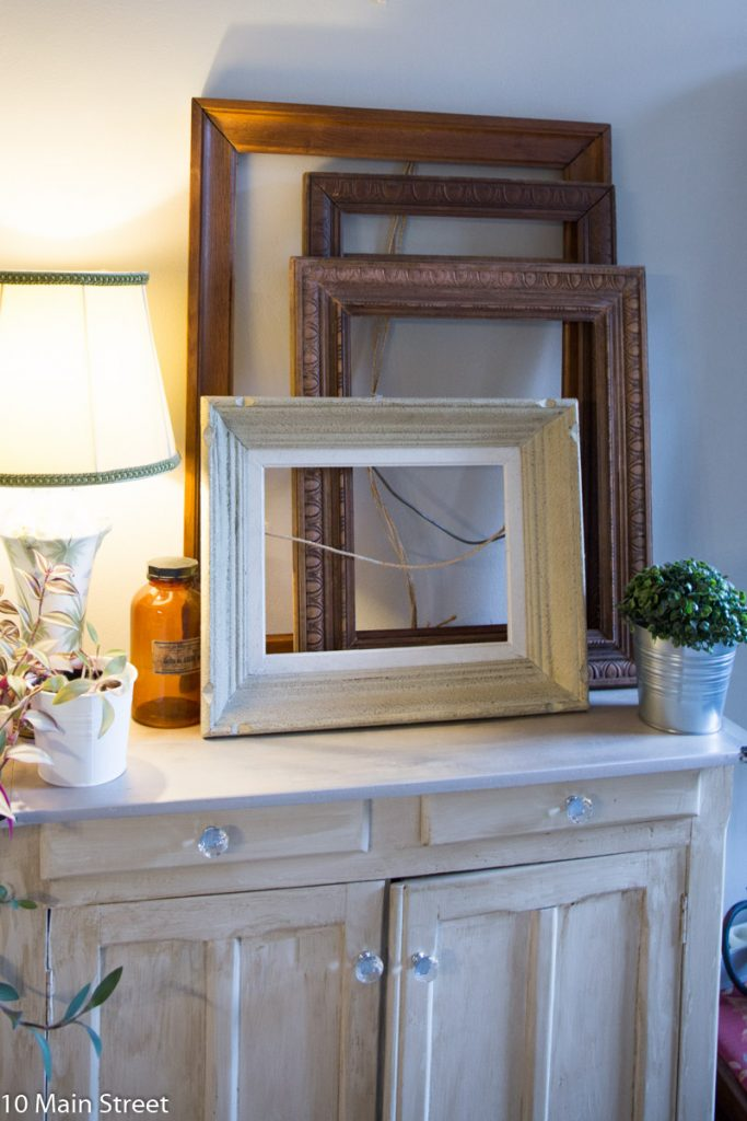 Cadres vintage à transformer en miroirs