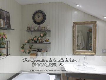 Transformation de la salle de bain : phase 2