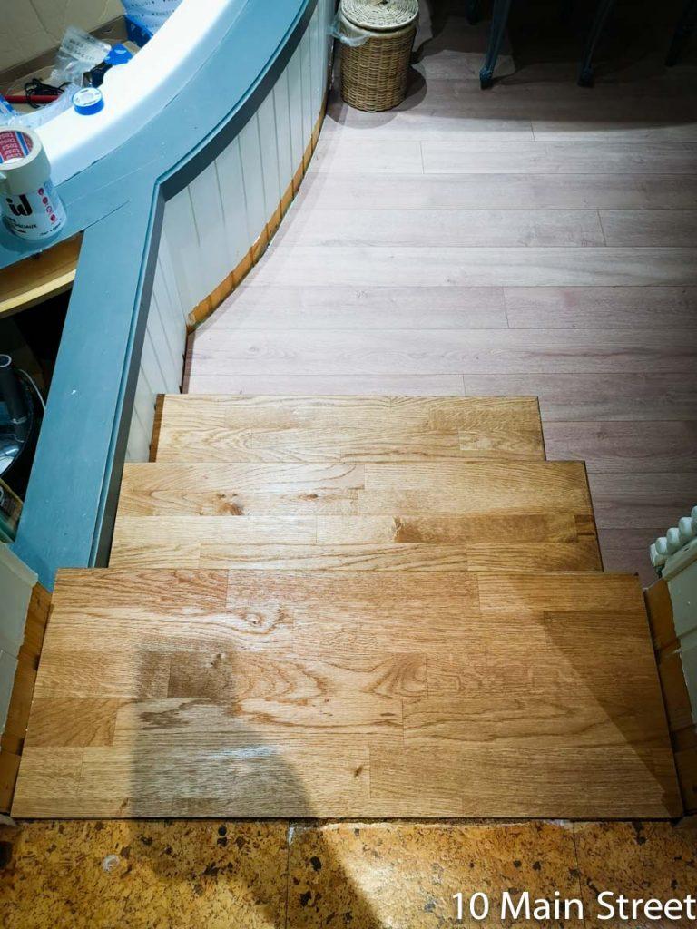 L'escalier moche rhabillé