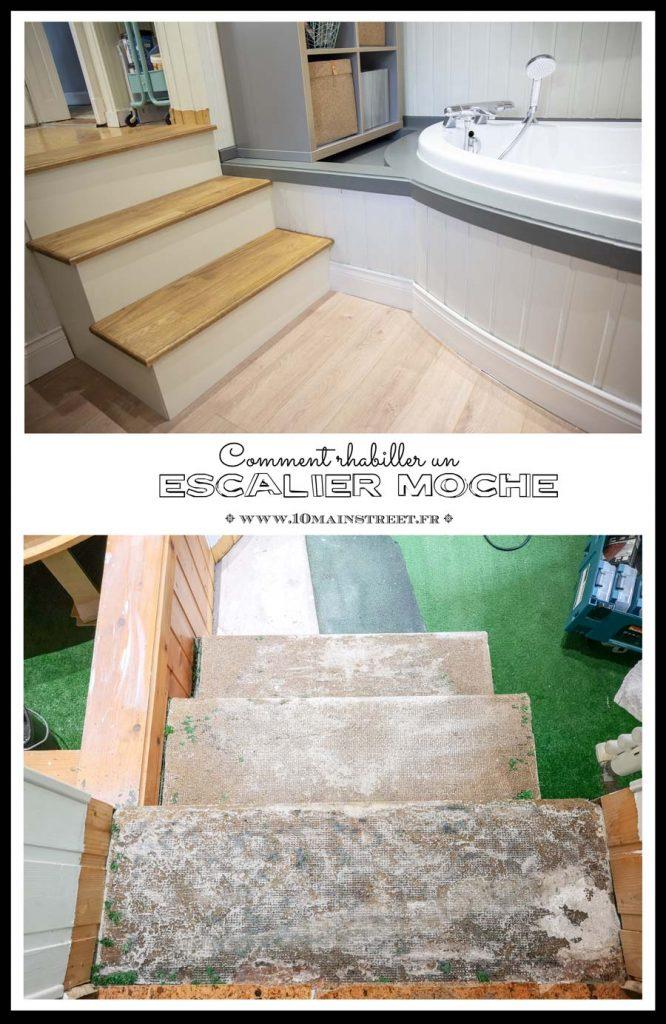 Comment rhabiller un escalier moche | #renovation #escalier #stairs