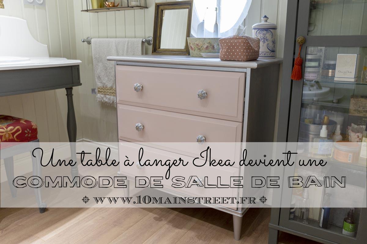 Rideau Gris Perle Ikea une table à langer ikea transformée en commode de salle de