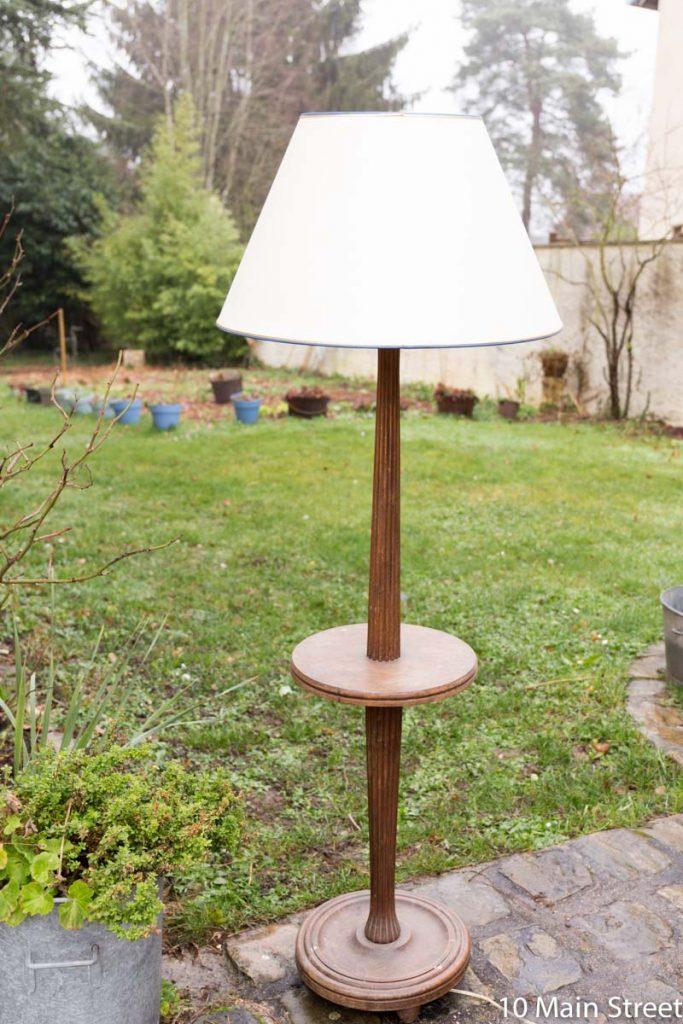 Lampadaire vintage en bois