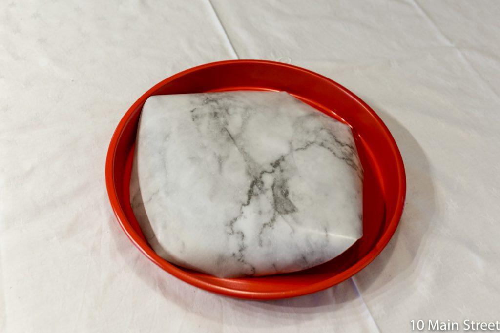 Découpe du papier effet marbre
