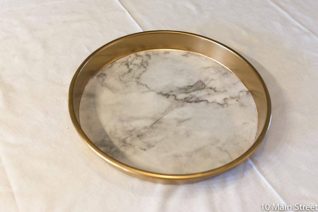 Le plateau marbre & or achevé