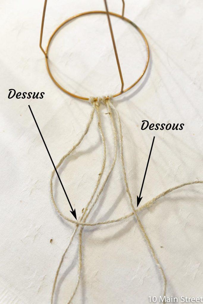 Macramé noeud plat 1
