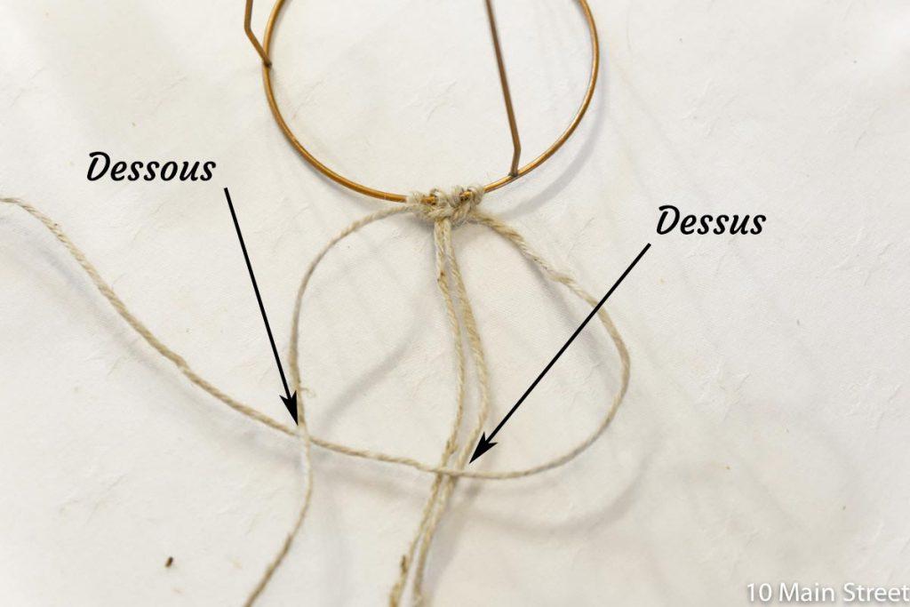 Macramé : noeud plat 3