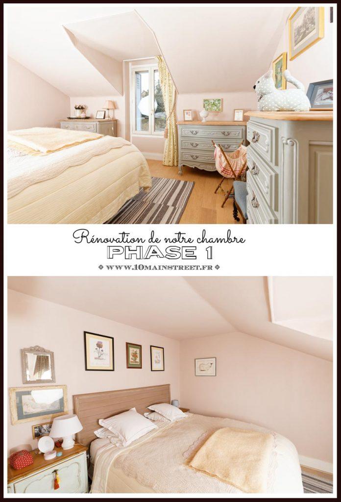 Notre chambre rose : phase 1 - Rénovation de notre chambre mansardée - peinture rose au plafond - 10 Main Street