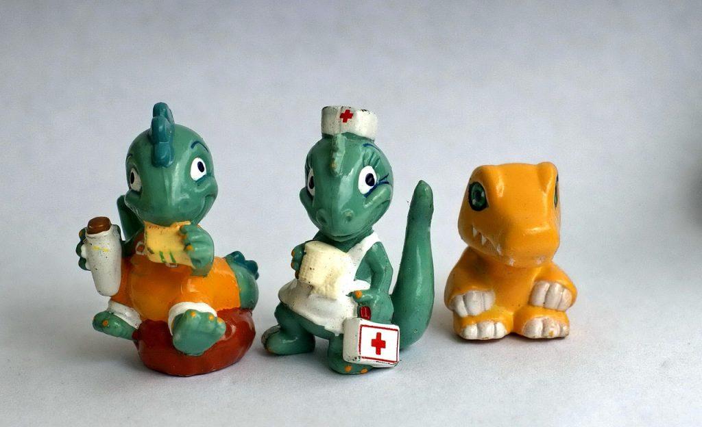 Dragons en pâte à sel
