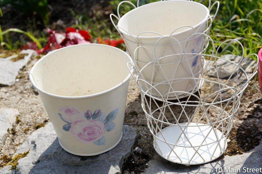 cache-pots Ikea en 2 parties