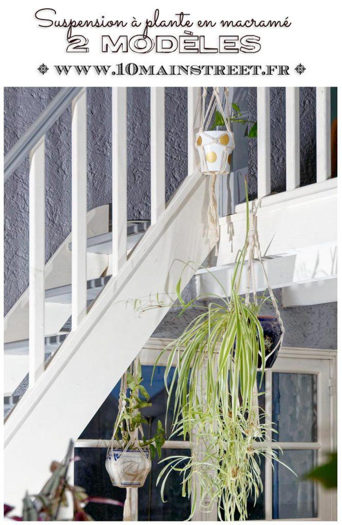 Suspension à plantes en macramé : 2 modèles - 10 Main Street