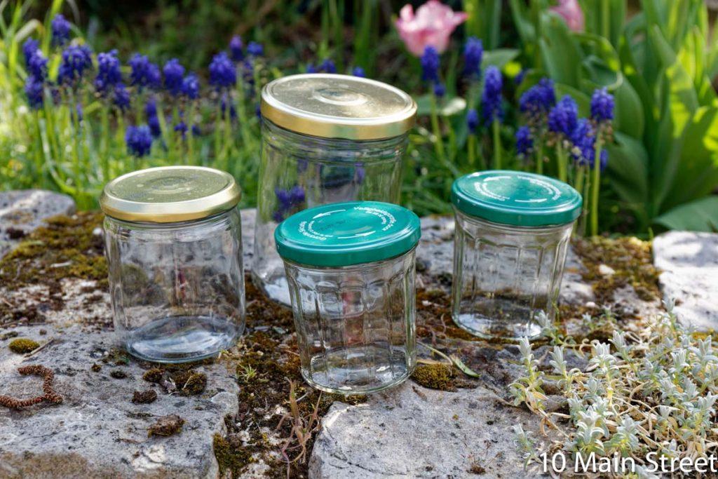 Bocaux en verre à recycler