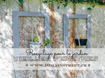 De vieilles fenêtres recyclées pour le jardin