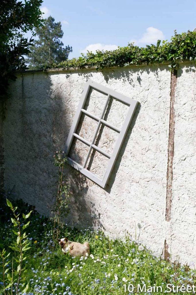 Recycler des vieilles fenêtres comme treillis pour plantes