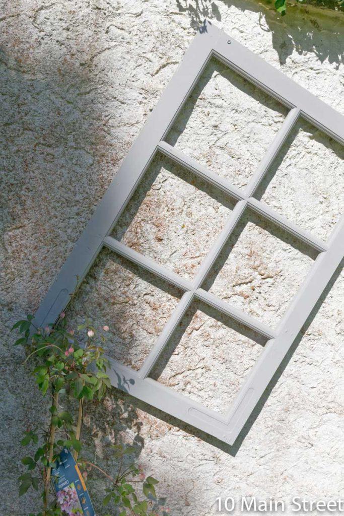 Recycler des vieilles fenêtres au jardin