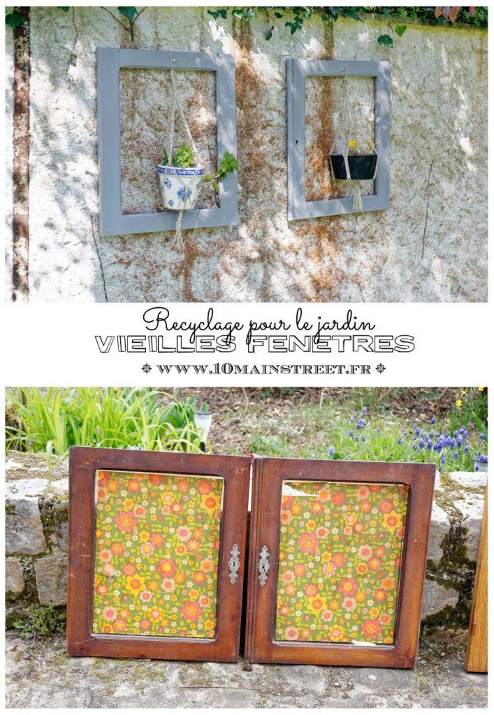 De vieilles fenêtres recyclées pour le jardin - #upcycling - windows repurposing - 10 Main Street