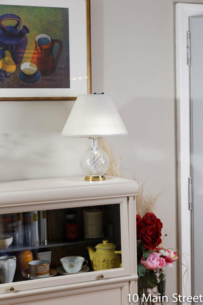 Lampe vintage en cristal de Baccarat