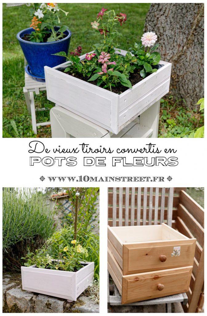 De vieux tiroirs Ikea convertis en pots de fleurs #upcycling #jardin - www.10mainstreet.fr