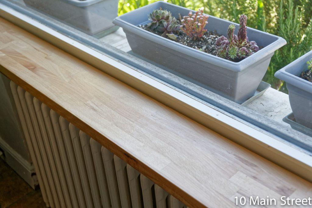 Aération entre le rebord et la fenêtre