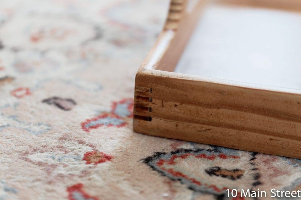 Assemblage du plateau en bois