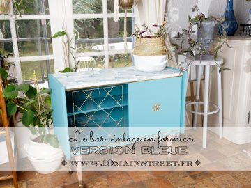 Le bart vintage en formica : version bleue