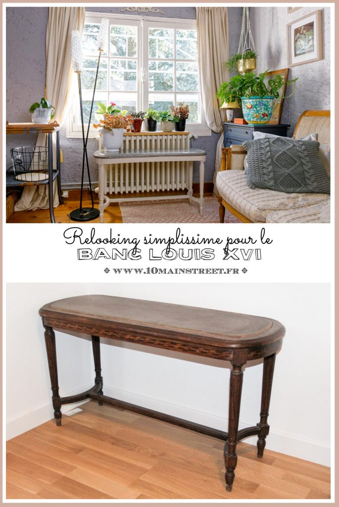 Banc Louis XVI : relooking simplissime - #upcycling #relookingmeuble - meuble français - French Bench Upcycling